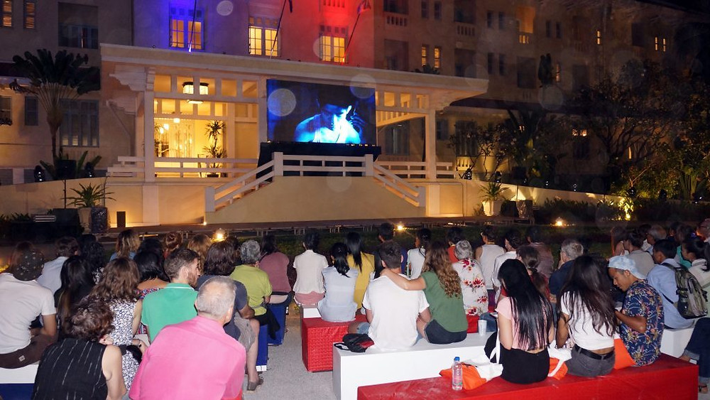 Projection en plein air du merveilleux film de Davy Chou, Diamond Island