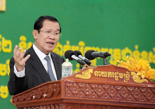 Le Premier ministre Hun Sen, Photographie AKP