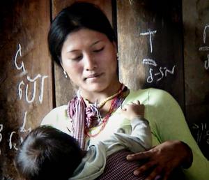 Jeune maman Jaraï du Ratanakiri