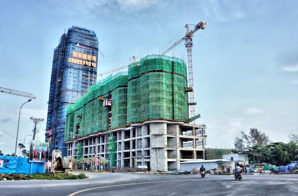 Parmi les nombreuses constructions de Sihanoukville