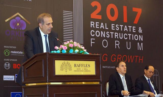 Forum immobilier 2017 - Arnaud Darc durant son discours d'ouverture