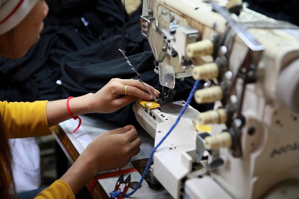 Usine de production textile au Cambodge. Photographie ILO