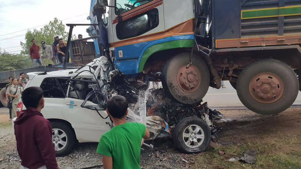 Accident de la route au Cambodge