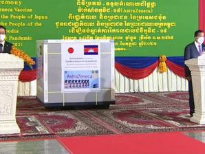 Santé & Coopération : Premier lot de vaccins AstraZeneca offerts par le Japon arrivé à Phnom Penh