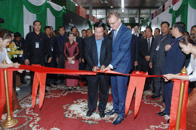 Inauguration du projet d'extension de l'entreprise Cambodge Brewery Limited