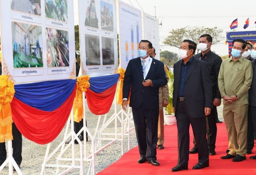 cérémonie d'inauguration de l'usine de traitement des eaux de Chamkar Mon à Khan Chroy Changva, Phnom Penh