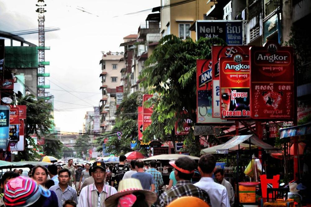 Rue de Phnom Penh, Cambodge
