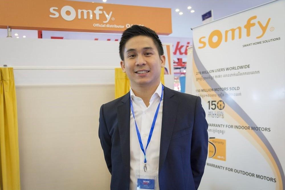 Vinarith Ngo lors du Salon de la Construction