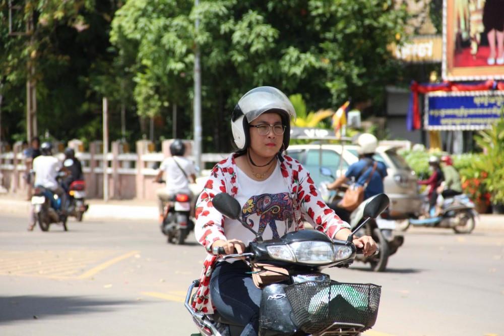 92% des motocyclistes de Siem Reap respectent le port du casque