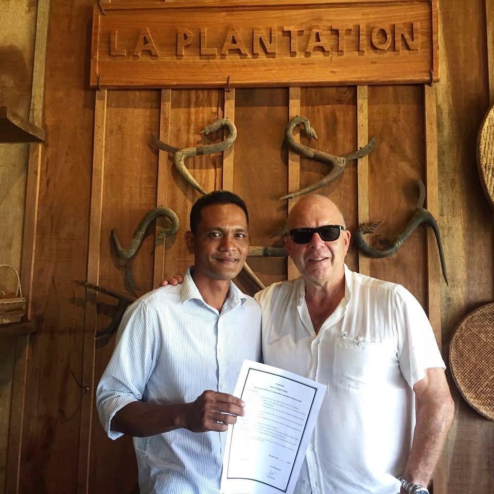 Le Chef Soklim et Guy Porré (La Plantation)