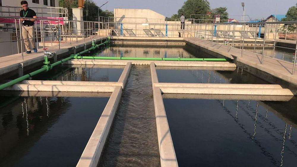 Extension d'une station de traitement d'eau à Kampot
