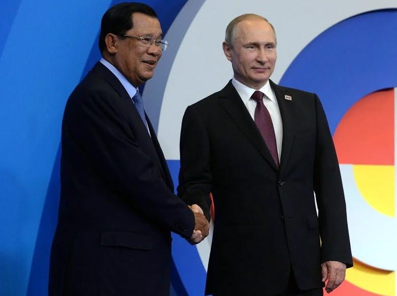 S.E. Hun Sen et Vladimir Poutine