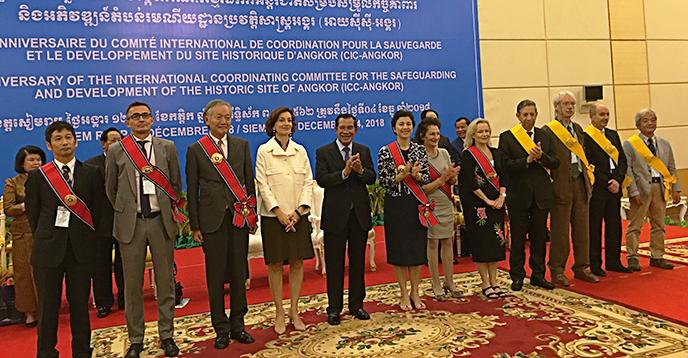 La Directrice générale de l'UNESCO, Audrey Azoulay, s'est rendue au Cambodge du 4 au 6 décembre à l'occasion du 25ème anniversaire de la création du Comité international de coopération pour la sauvegarde et le développement du site historique d'Angkor (CIC-Angkor)