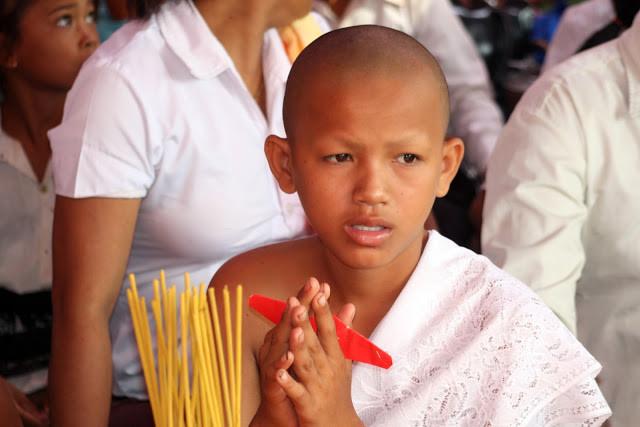 Novice de Wat Kraya avant la cérémonie d'intronisation. Photo Christophe Gargiulo - CGF Foundation