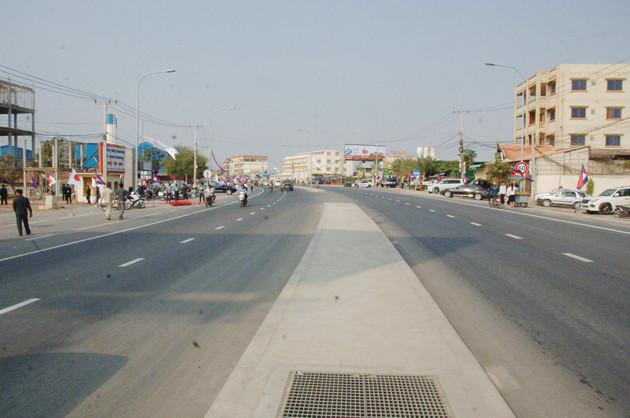 Cette portion de route a été construite à un coût total de plus de 23 millions de dollars américains