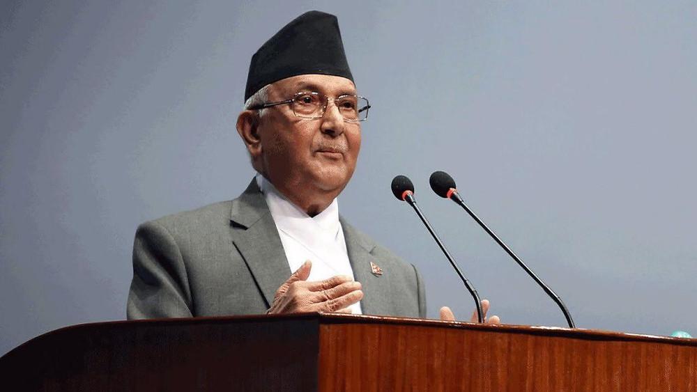 Le Premier ministre du Népal, KP Sharma Oli,