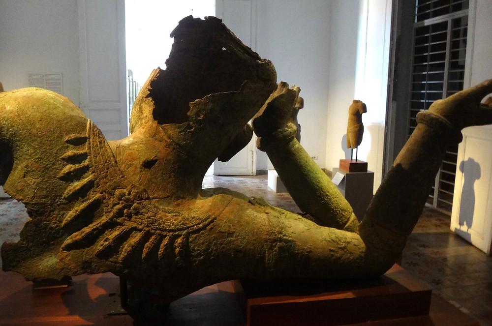 Le Vishnu en bronze du Mébon occidental en quête d'une nouvelle vie