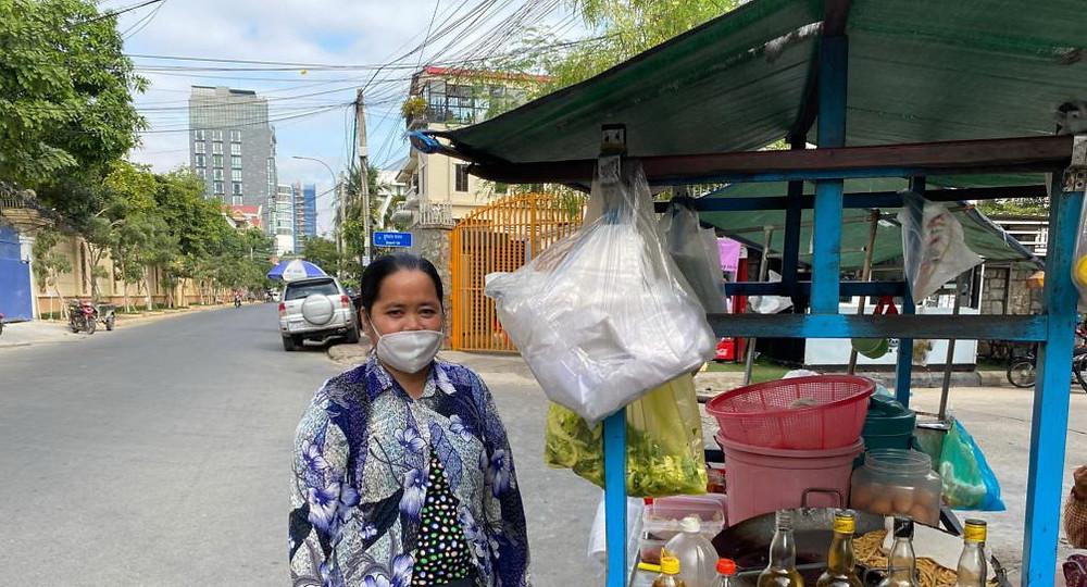 Khim Ha, une vendeuse de rue de Phnom Penh
