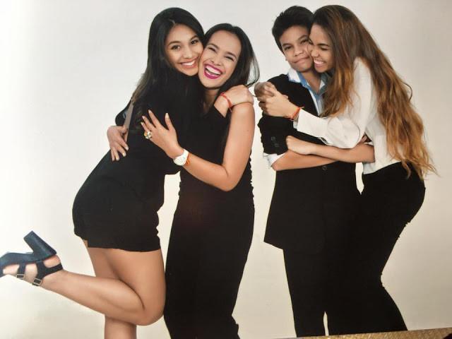 Adana Legros en famille