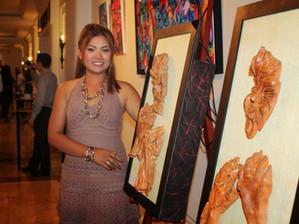 Plein succès pour l'expo de Chhan Dina