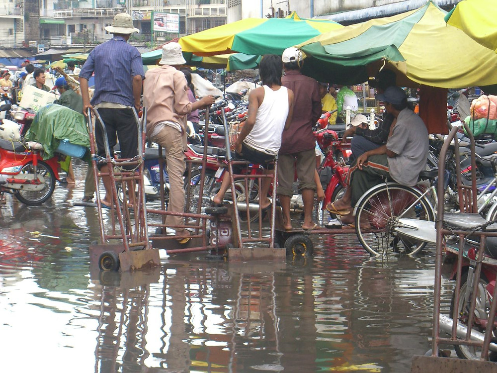 Inondations à Phnom Penh