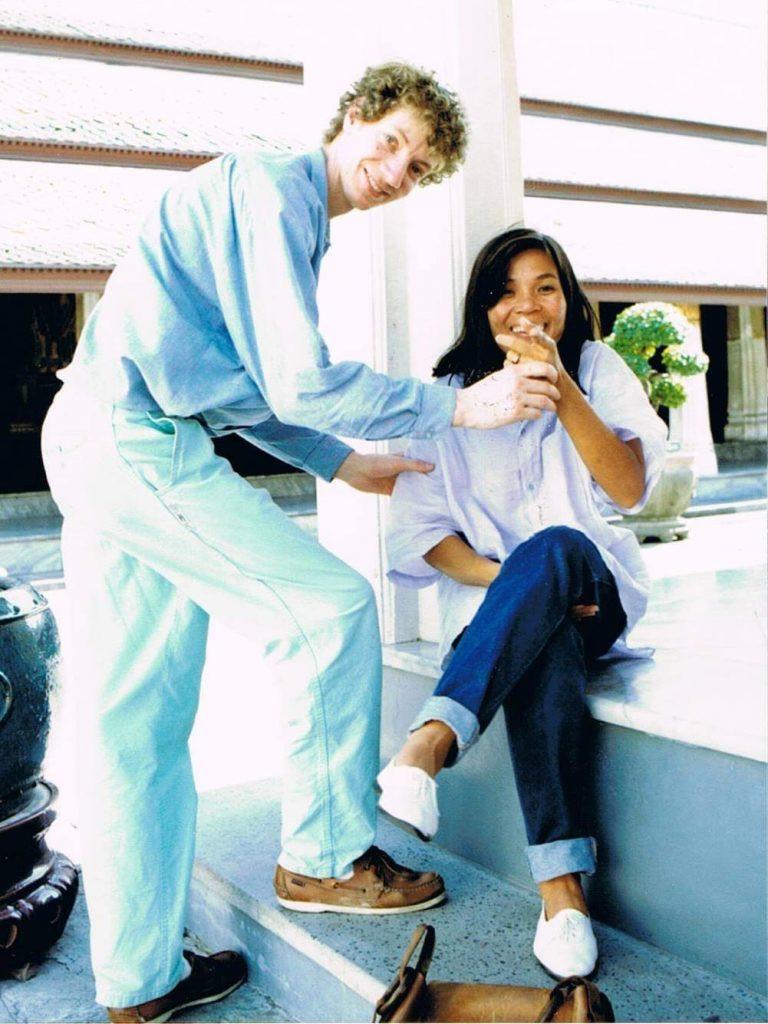 Arnaud en 1989 avec son épouse Nou