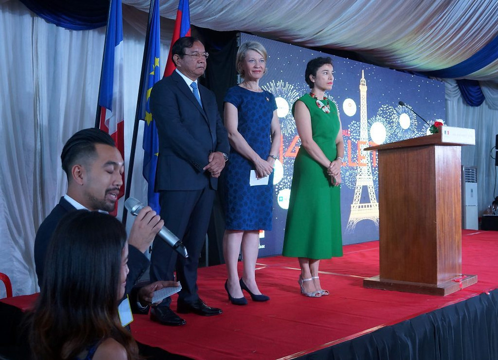 Célébration du 14 juillet à l'Ambassade de France