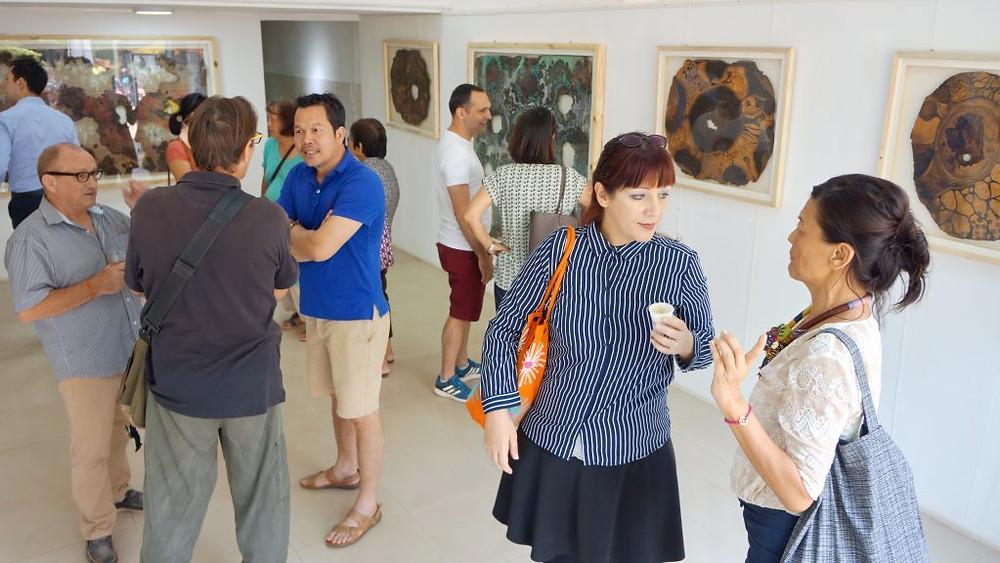 Ouverture de l'exposition Décomposition de Maline Yim