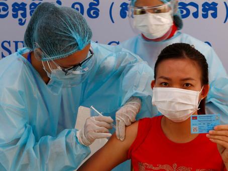 Cambodge & COVID-19 : Plus de 15 % de la population cambodgienne vaccinée