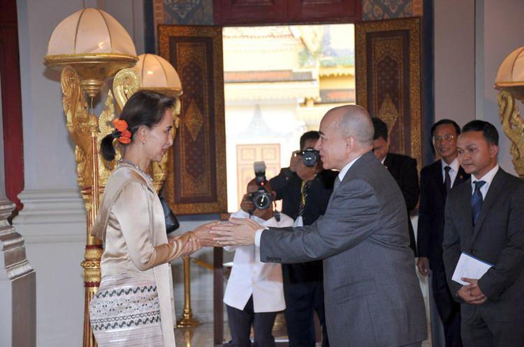 Audience avec le Roi Norodom Sihamoni