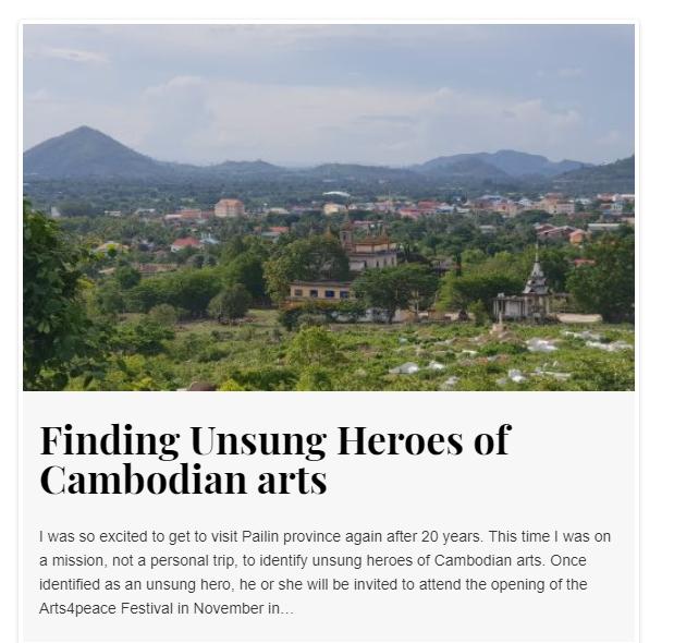 Héros méconnus de la culture cambodgienne