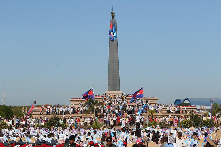 40ème anniversaire de la fondation du Front de solidarité pour le développement de la patrie cambodgiennedans le district de Snuol, province de Kratie