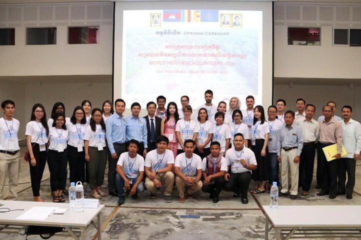 Formation pour les jeunes volontaires du patrimoine