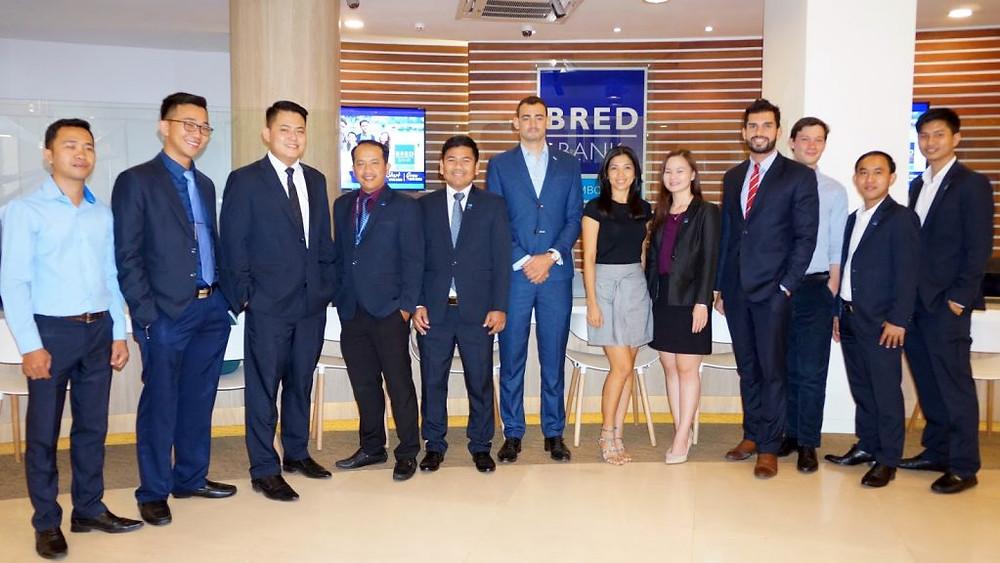 L'équipe commerciale de la BRED Bank Cambodia