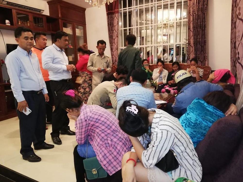 Interpellation de 36 Cambodgiennes et 4 Chinoises