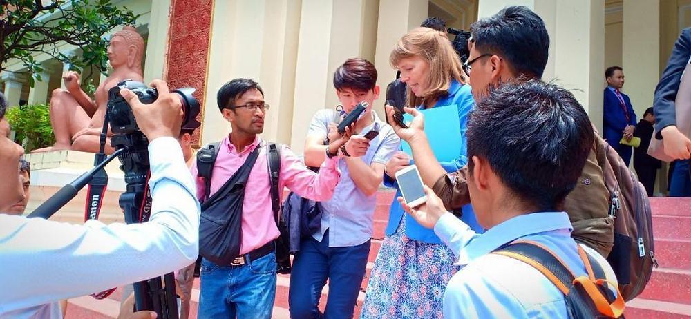 lors d'une réunion avec le ministre de la Justice, Ang Vong Vathana au ministère ce jeudi