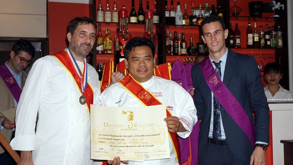 Richard Gillet, Luu Meng et Charly Guillo