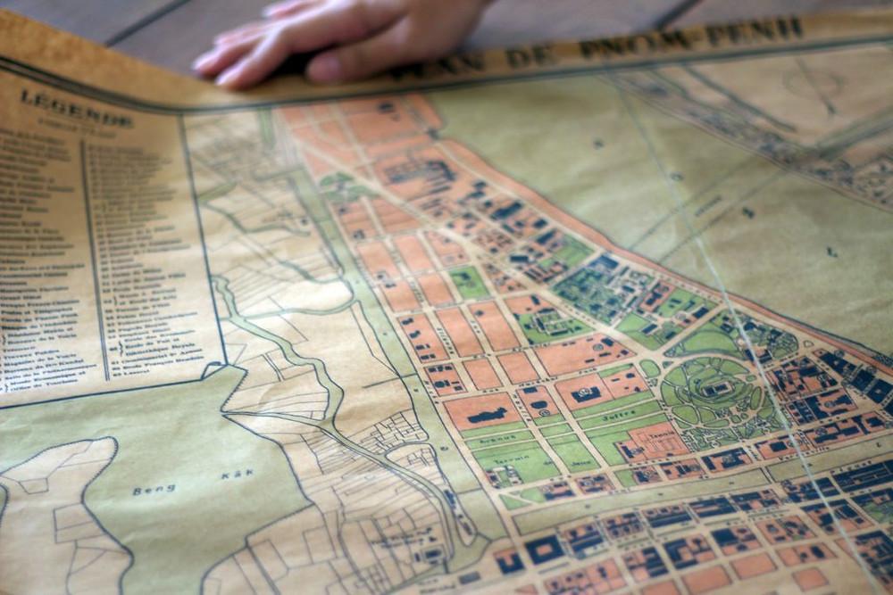 Carte de Phnom Penh à l'époque de l'Indochine française