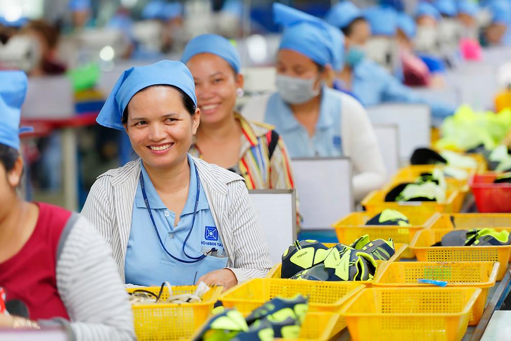 Usine textile à Phnom Penh