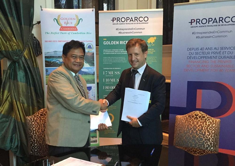 Proparco accorde un prêt de 14 millions de dollars à Golden Rice, l'un des principaux exportateurs cambodgiens de riz parfumé
