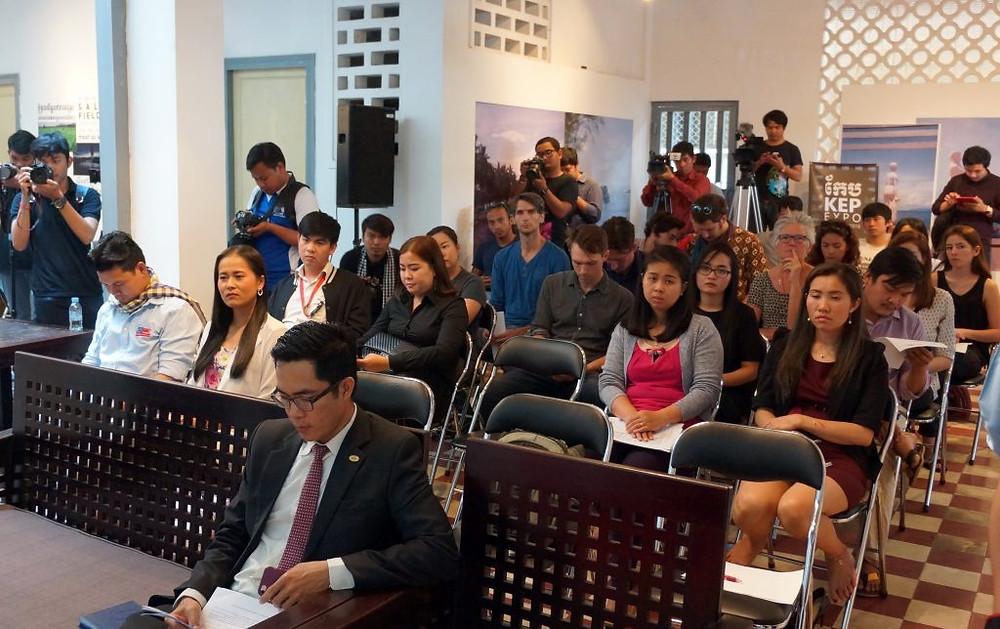 Conférence de presse organisée au Centre Bophana