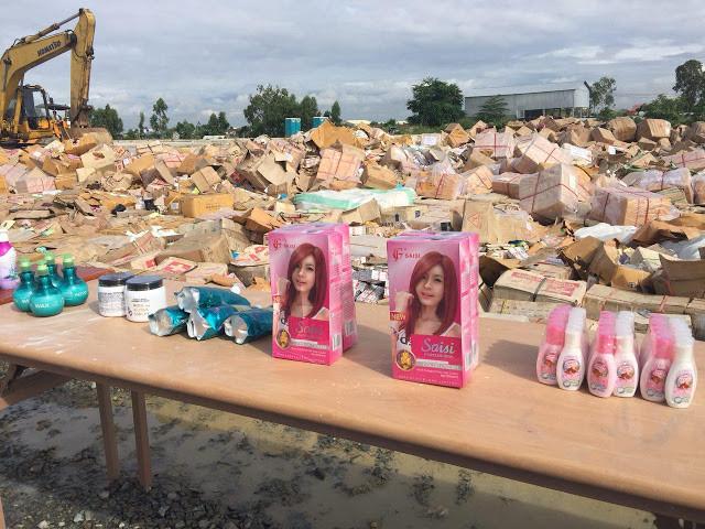 Destruction de 100 tonnes de produits cosmétiques contrefaits