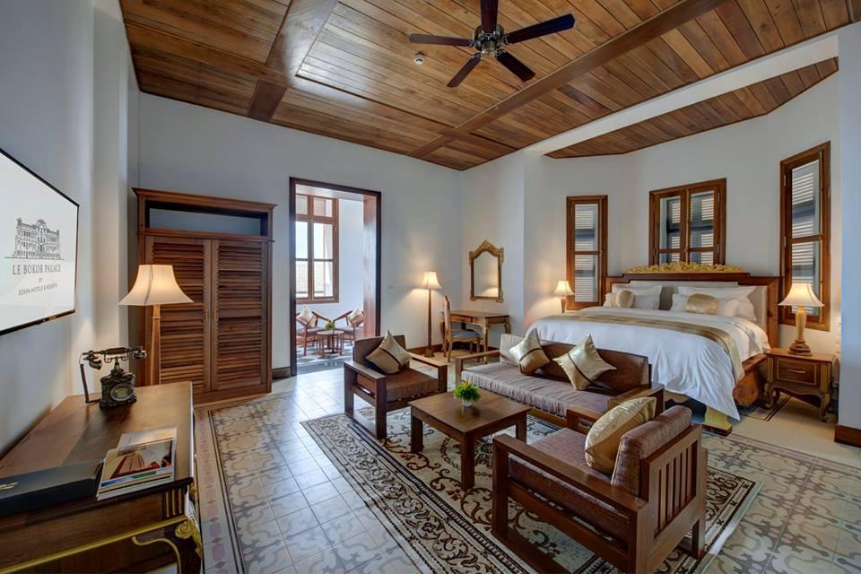 Chambre du Bokor Palace. Photographie fournie