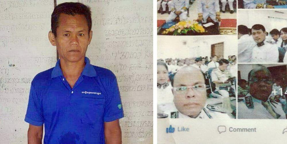 Kheang Navy, directeur d'école primaire, aurait traité de ''traîtres'' le roi Norodom Sihamoni, son père, feu le roi Norodom Sihanouk et son demi-frère le prince Norodom Ranariddh.