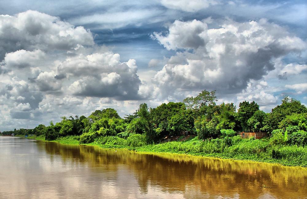 Anloung Chen, petite ile de 11 km de long sur la rivière Bassac