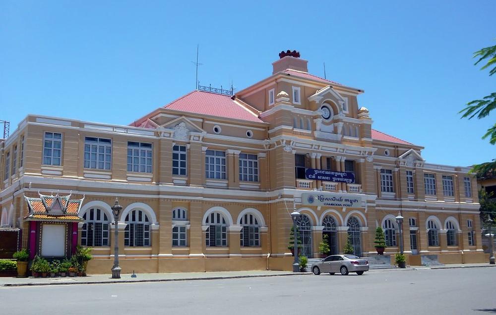 Le bureau de poste de Phnom Penh