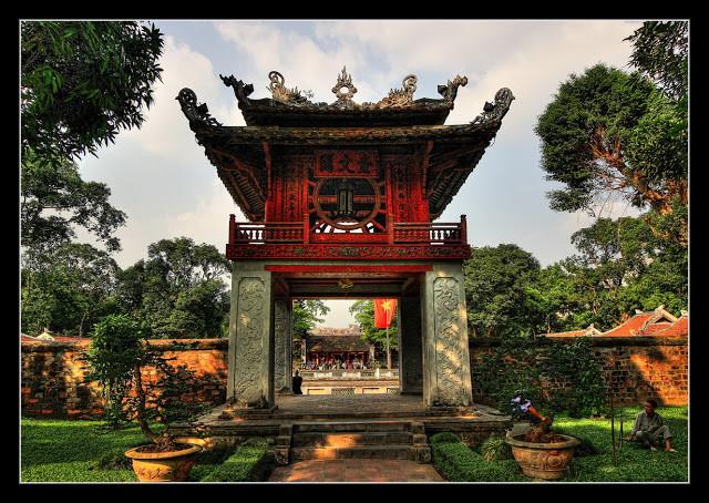 Hanoï - Văn Miếu - Le temple de Quốc Tử Giám ou Temple de la Littérature