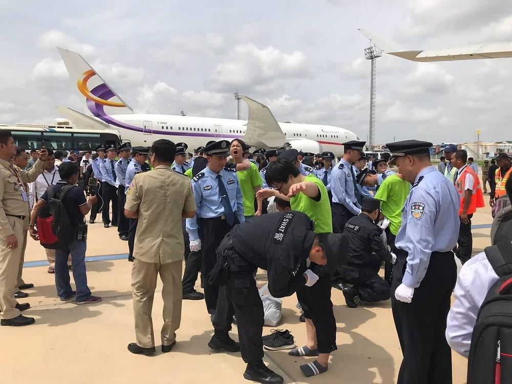 91 ressortissants chinois déportés