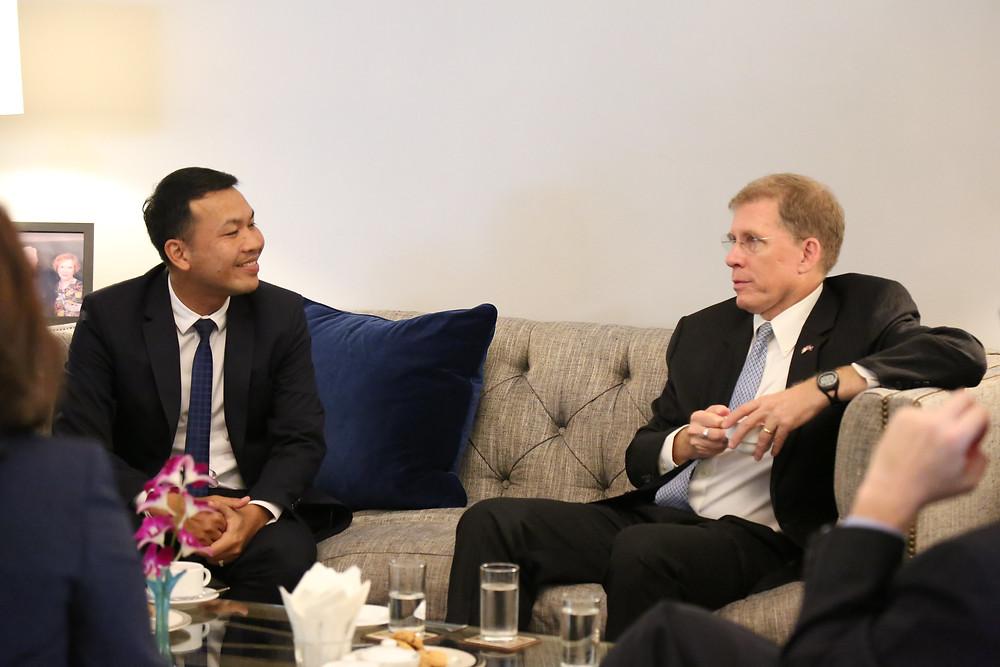 À l'ambassade en octobre 2019 lors de la remise de ses lettres de créance