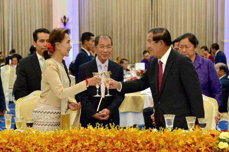 Banquet organisé en l'honneur de Mme Aung San Suu Kyi
